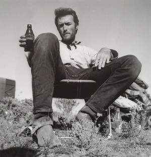 Clint on set of The Good, the Bad and the Ugly