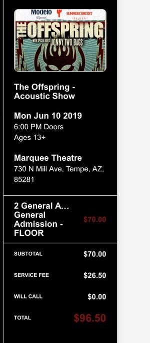 concierto Tickets