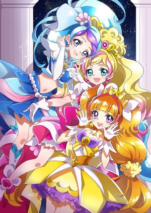 Cure Mermaid, Cure Flora and Cure Twinkle