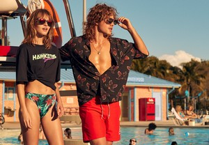 Dacre Montgomery and Maddy Elmer - H&M's Stranger Things Collection Photoshoot - 2019