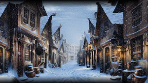 Diagon Alley During Winter by xxtayce