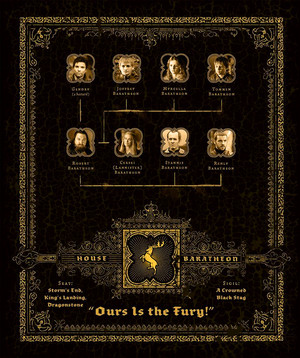 Family pokok Graphic - House Baratheon - Ours Is the Fury