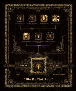 Family درخت Graphic - House Greyjoy - We Do Not بونا