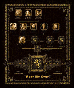 Family Tree Graphic - House Lannister - Hear Me Roar