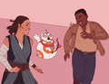 Finn/Rey Drawing - BB-Cupid - rey-and-finn fan art
