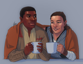 Finn/Rey Drawing - January - rey-and-finn fan art