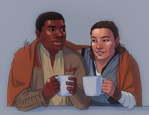 Finn/Rey Drawing - January