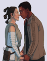 Finn/Rey Drawing - rey-and-finn fan art