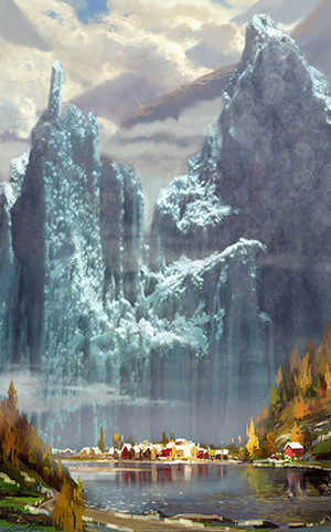 Frozen Early Concept Art oleh Lisa Keene