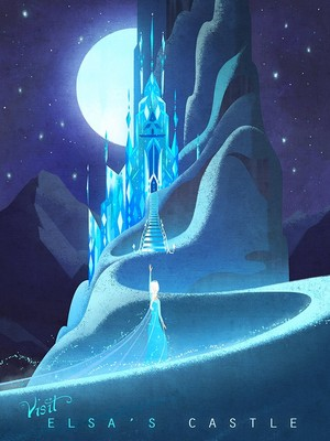 Frozen Travel Poster by Fiona Hsieh