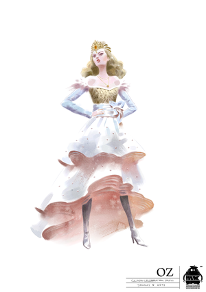 Glinda Dress Costume Illustration 1
