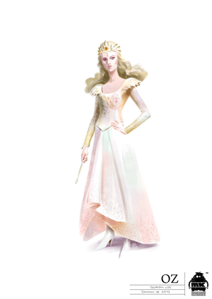 Glinda Dress Costume Illustration 2
