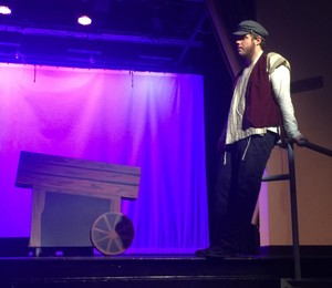 Grayson Hall's Grandson, Caleb, as Tevye in a high school production of Fiddler on the Roof