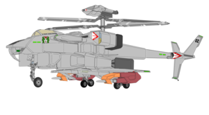 Gyrodyne VFH-10B Auroran AGAC w tên lửa launcher x2