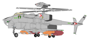 Gyrodyne VFH-12B Super Auroran with tên lửa launcher x4
