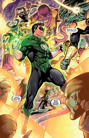 Hal Jordan vs Yellow Lanterns