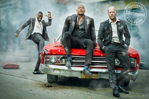 Hobbs and Shaw - Entertainment Weekly Photoshoot - Idris Elba, Dwayne Johnson, and Jason Statham