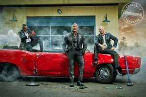Hobbs and Shaw - Entertainment Weekly Photoshoot - Idris Elba, Dwayne Johnson, and Jason Statham