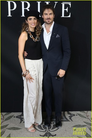 Ian Somerhalder and Nikki Reed at Armani ipakita in Paris!