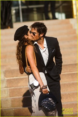 Ian Somerhalder and Nikki Reed at Armani toon in Paris!