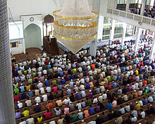 Inside the Mosque during Jummah Masjid (Friday Prayer)