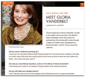 Interview With Gloria Vanderbilt