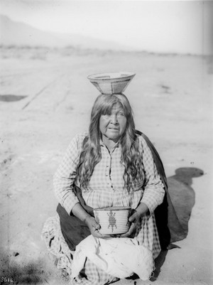 Jane Sneed, (Pima)  basket maker, Arizona - Pierce - ca.1900