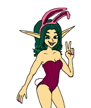 Keira Hagai Bunny Suit (softeldritch)