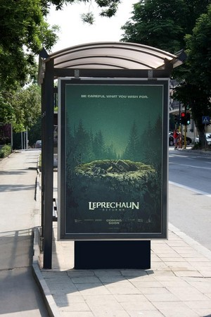 Leprechaun Returns on Billboard Bus