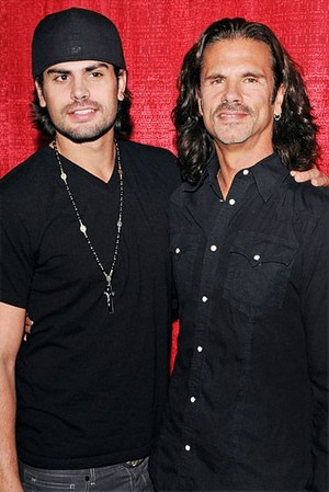 Lorenzo Lamas And His Son, A.J.