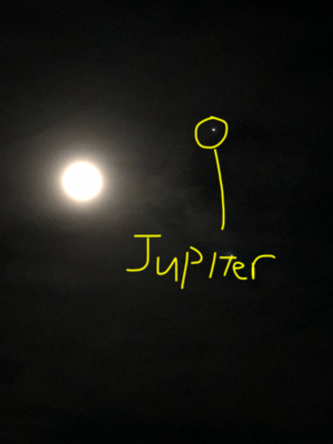 Luna and Jupiter