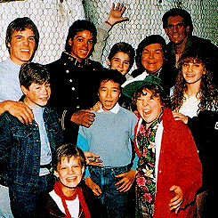 Michael Jackson On The Goonies Movie Set