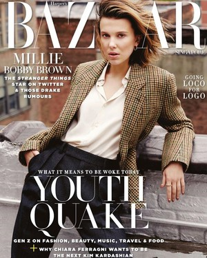 Millie Bobby Brown - Harper's Bazaar Cover - 2019