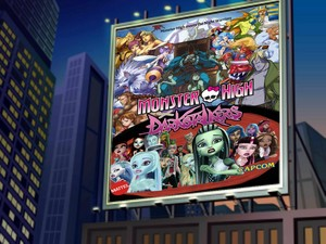 Monster High x Darkstalkers on Billboard
