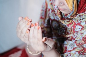 Muslim Woman at Namaz (Salat)