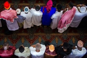 Faithful Muslims during Jummah Masjid (Friday Prayer) at Mosque