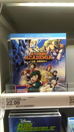 My Hero Academia Boku No Hero Academia Two Heros Movie DVD and Blu ray