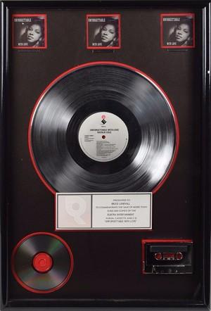 Natalie Cole Platinum Record 1991 Unforgettable With Cinta