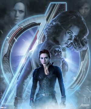 Natasha Romanoff / Black Widow Avengers Endgame character poster