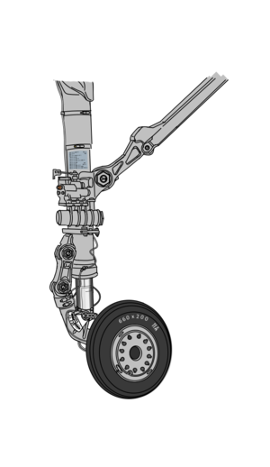 Nose gear for VFH-10 Auroran AGAC (11A 660x200)