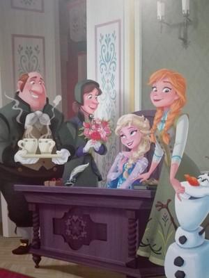 Olaf, Elsa, Anna, Gerda and Kai