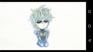 One stempel, punch Man Genos