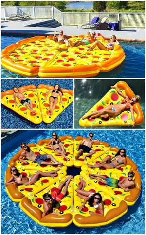 pizza, bánh pizza Pool Float