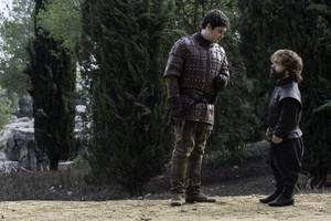 Podrick Payne and Tyrion Lannister
