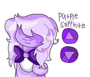 Purple Sapphire gem