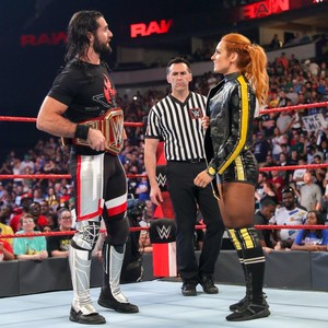 Raw 7/1/19 ~ Rollins/Lynch vs Mike and Maria Kanellis