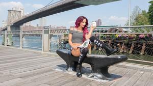 Sasha Banks in Brooklyn