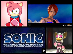 Sonic The Hedgehog Amy Rose, Princess Elise and Rouge The Bat