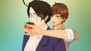 Spain Gives Austria a tomato, sos tomato (MMD)