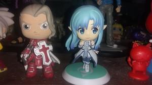 Sword Art Online Asuna Yuuki, Akihiko Kayaba action figures